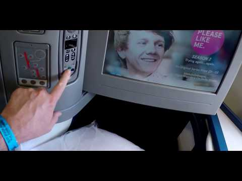 Delta Air Lines Airbus 330 HNL to ATL Business Class set to James Bond and Airport movie music