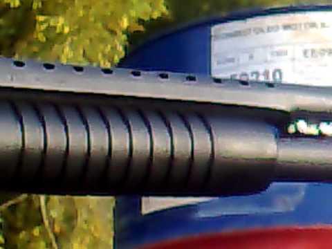 Tiro de calibre 12 no tambor