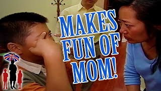 Boy Makes Fun Of Mom