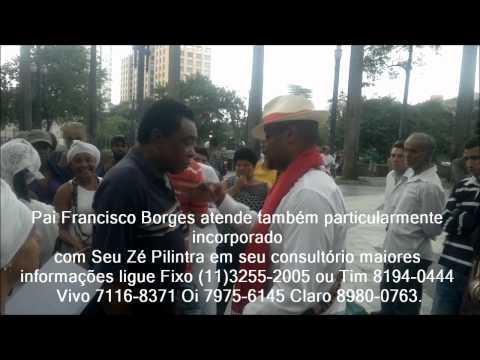 Zé Pilintra na Praça da Sé Pai Francisco Borges