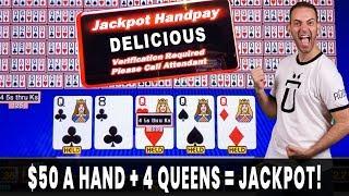 $50 a Hand = Video Poker JACKPOT! 🎲 Crazy Kings on Corgi Cash 🐶