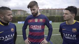F2 TRAIN WITH FC BARCELONA MESSI, SUAREZ, PIQUE, TURAN & TER STEGEN! Learn the Barça Way with Beko