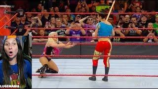 WWE Raw 5/22/17 Alexa Bliss vs Mickie James