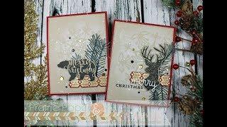 SSS Frozen Fractals Stencil Cards | AmyR 2017 Christmas Card Series #7