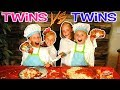 Download Video Download TWINS VS TWINS NOT MY ARMS CHALLENGE MAKING PIZZA! With Ninja Kidz TV 3GP MP4 FLV