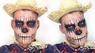 Zombie Scarecrow Halloween Makeup Tutorial