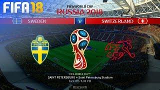 FIFA 18 World Cup - Sweden vs. Switzerland @ Saint Petersburg Stadium