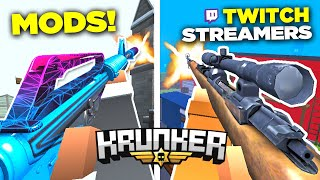I Tried Krunker.io Twitch Streamer's MOD Packs (FrostyWolf and MORE)
