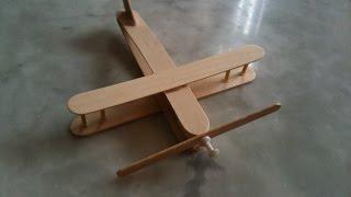 طريقة سهلة لصنع طائرة من أعواد آيس كريم ومشبك غسيل