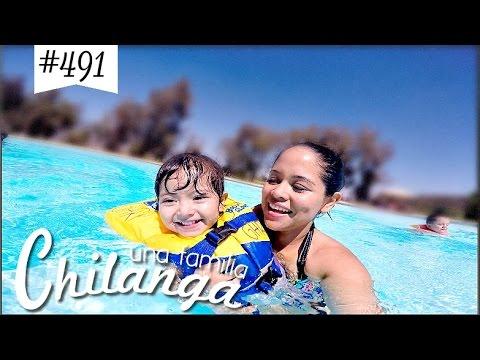 A LA PISCINA Y EXPLORANDO EL CAMPAMENTO VLOGS DIARIOS 491 Una Familia Chilanga
