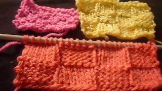 تريكو حجار القلعة بقياسات مختلفة وكيفية استعمالها للمبتدئين  Knitting - Stitches