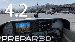 [P3Dv4.2] Carenado C172SP ||  Innsbruck || First impression