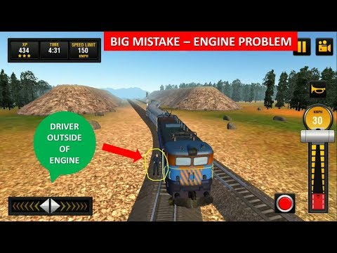 🔥🔥BIG MISTAKE IN INDIAN TRAIN SIMULATOR : TRAIN GAMES | RAILWAY ENGINE PROBLEM - ANDROID GAMEPLAY