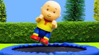 NEW! TRAMPOLINE | Funny Animated cartoons Kids | WATCH ONLINE | Caillou Stop Motion | Cartoon movie
