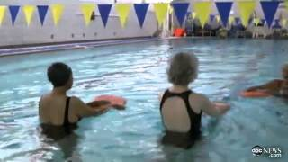 Swimming for Seniors.  Dr. Jane Katz shares her water exercise techniques