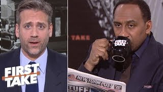 Max still struggling to sell Tom Brady 'cliff' theory to Stephen A.   First Take