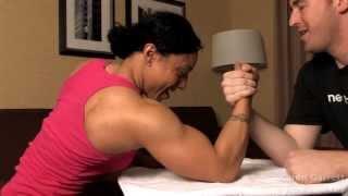 Female Bodybuilder  Mixed Armwrestling Match