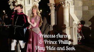 Prince Phillip & Disney Princess Aurora Play Hide and Seek at Walt Disney World