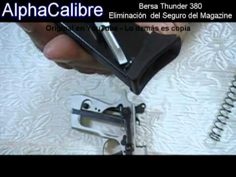 Bersa Thunder 380 Eliminación del Seguro del Magazine