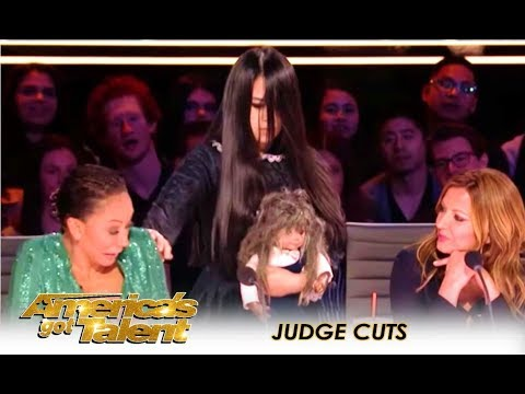 The Sacred Riana Mel B ESCAPES Creepy Girl Magician After HORROR Act America s Got Talent 2018