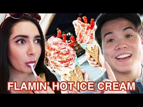 We Tried Flamin Hot Cheeto Ice Cream