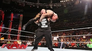 Brock Lesnar F-5s The Undertaker: Raw, March 31, 2014