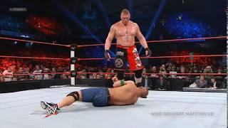 WWE  John Cena vs Brock lesnar   Extreme Rules Most Extreme Match In WWE
