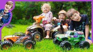 RC Monster Truck Vs. Baby Race