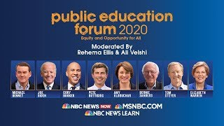 Watch Live: MSNBC's Public Education Forum 2020 with Democratic hopefuls