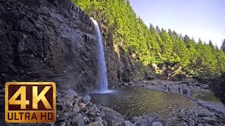 4K UHD Relaxing Waterfall Sounds - 3 Hours Video For Relaxation Study & Sleep