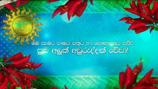 Happy Sinhala and Tamil New Year (Sin)