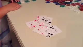 Little kids playing poker