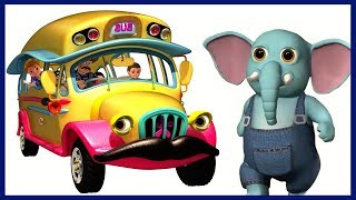 Wheels on the Bus | Animals Bus Song | Nursery Rhymes Collection | Kids Songs by KidRhymes