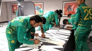 Pakistan Cricket Team Photo Session with Champions Trophy New Kit&Practice