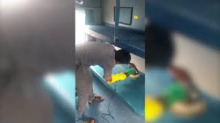 Train cleaning Action at Basin Bridge