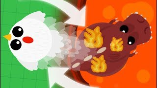 MOPE.IO CHICKEN TROLLS ANGRY ANIMALS! // Mopeio Funny Moments Montage & Gameplay