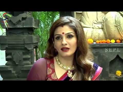 Raveena Tandon Celebrates Diwali In A Gorgeous Appealing Saree