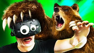 PLEASE! I WAS JUST EATEN ALIVE BY A BEAR IN VR!!?! Just In Time Incorporated HTC Vive VR