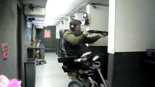 iBOT Wheelchair - BALANCE TEST w/ 12g Shotgun