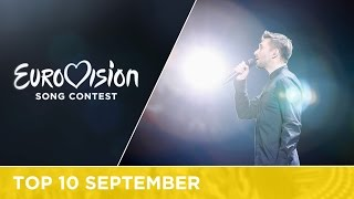 TOP 10: Most watched in September - Eurovision Song Contest