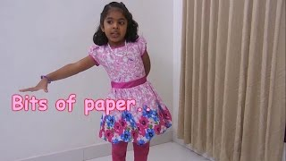 English Action Song - Bits of paper....
