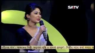 pooja sengupta hosting Suchitra Sen special episode of gohiner gaan;