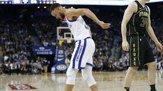Stephen Curry Returns 29 Points! Leaves Knee Injury! 2017-18 Season