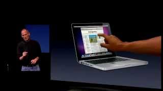 Touchscreen MacBook - Apple Special Event, 2010