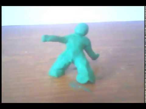 Stop motion animation ver.1 los muñequitos de plastilina