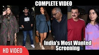 Malaika Arora And Arjun Kapoor's Entire Family At India's Most Wanted Special Screening | FULL VIDEO