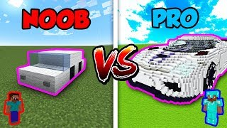 Minecraft NOOB vs. PRO: CAR BATTLE in Minecraft!