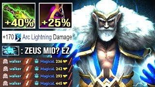 EPIC Shit 500 Damage Arc Zeus vs Hard Counter Storm Mid Crazy Top MMR Gameplay Dota 2