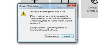 """Fix -  """"This virtual machine appears to be in use"""" error in VMware Workstation"""