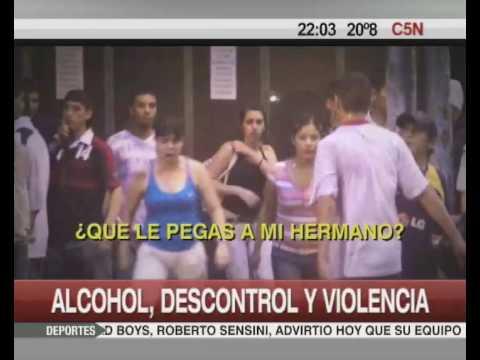 Imágenes C5N Alcohol descontrol y violencia
